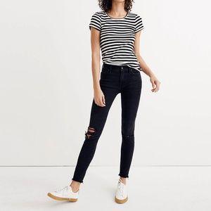 Madewell 9 inch skinny jeans high rise black sea